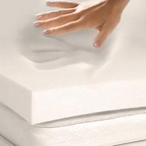"3""Thick 4 Pound Elastic Memory Foam Mattress Topper _43(AZFS)"