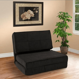 Fold Down Chair Flip Out Lounger Convertible Sleeper Bed 44694780(WFS)