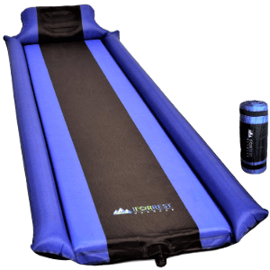 Self-Inflating Foam Air Mattress with Armrest & Pillow