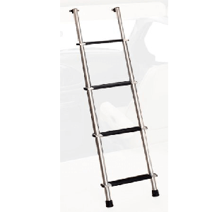 Aluminum 66 In. Bunk Ladder with Hook Retainer
