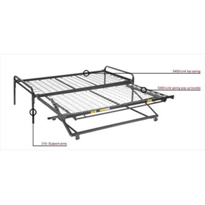 Twin Size Pop Up Trundle Bed 5300/5400/315(MTFS)(275 Lbs Weight Capacity)