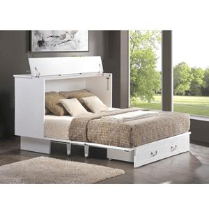 Queen Size Cottage Flip Top Creden ZzZ Cabinet Bed 553_(FCFS)