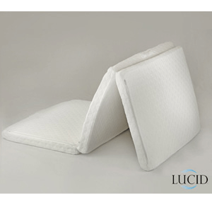 Twin Size Folding Memory Foam Mattress Lucid(AZFS80)