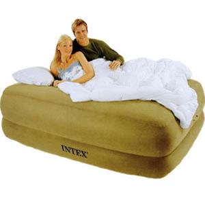 Intex Raised Foam-Top Air Bed w. Built-In Pump 6695_ (KDYFS)