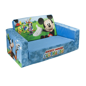 Marshmallow Flip Open Sofa with Mickey Mouse Theme 6021943(AZFS50)