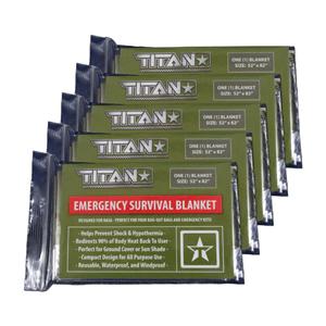 TITAN Survival Blankets (5-Pack) (AZFS)