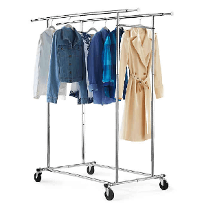 Rent A Dual Bar Adjustable Garment Rack