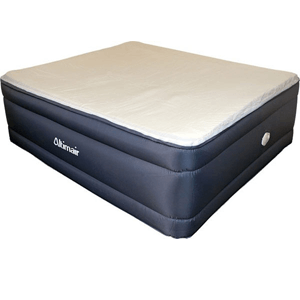 King Raised Fabric Air Bed with Memory Foam and Built-in Pump AATKRMFFV01(AFS)