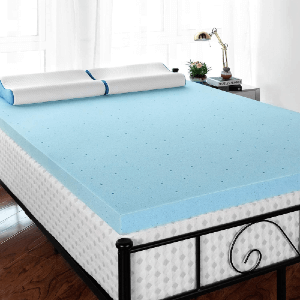 RUUF 4-Inch Memory Foam Mattress Topper (Multiple Sizes)