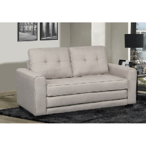 Lizeth 58 in Linen Square Arm Sofa Sleeper Bed (Multiple Colors)(Weight Capacity 750 Lbs)