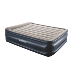 Bestway Tritech Queen Airbed 22 Inch with Built-in AC Pump (661 Lbs Weight Capacity)