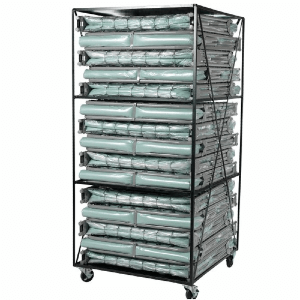 XM-6 Cots with Storage Cart 15 Beds Included (375 Weight Capacity)