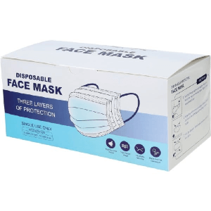 Disposable Protective Face Mask Package Of 50 (HD)