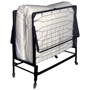 Full Size Steel Rollaway Bed With Mattress (500 Lbs Weight Capacity)
