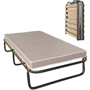 Folding Guest Bed with Memory Foam Mattress Portable & Lightweight (200 Lbs Weight Capacity)