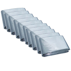 Emergency Mylar Thermal Blankets (Pack of 10) HB-10(AZFS)