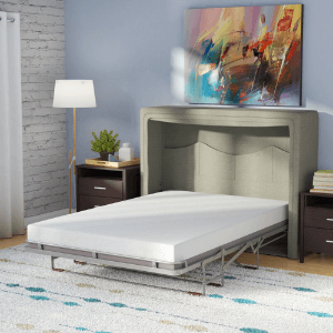 Sue Full/Double Upholstered Murphy Bed with Mattress LRUN2193(WFFS)