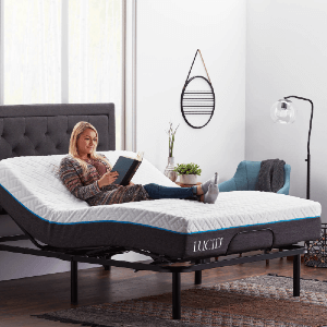 Lucid Basic Remote Controlled Adjustable Bed Base Heavy Duty Steel Multi Position (Multiple Sizes)(750 Lbs Weight Capacity)