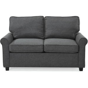 57 In. Loveseat Sleeper with Memory Foam Mattress