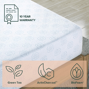 8 Inch Gel-Infused Green Tea Memory Foam Mattress OLB-FGM-0800(AZ)