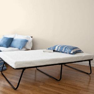Sleep Master Zinus Traveler Premier Folding Twin Guest Bed, Plus Bonus Storage Bag