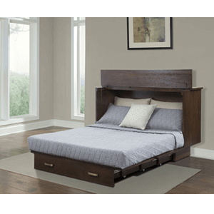 Twin Size Traditional Flip Top Cabinet ZzZ Bed 503-15-A(FUFS)