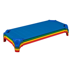 4 pcs Sprogs Deluxe Un assembled Stack able Daycare Cot with Easy Lift Corners