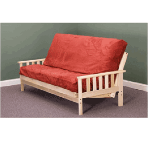 Savannah Bi-Fold Futon Frame (Unfinished Hardwood)
