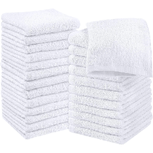 Utopia Towels Cotton White Washcloths Set - Pack of 24