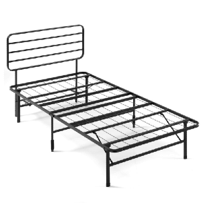 Lorna Folding Steel Bed Frame (500 Lbs Weight Capacity)(Multiple Sizes)