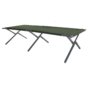 Extra Large X-Frame XT-77 Army Cot (375 Lbs Weight Capacity)