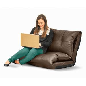 Urban Shop Tufted Faux Leather Flip Sofa WK656707(WFS)