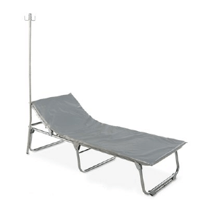 Heavy Duty Steel Special Needs Cot with Vinyl Mat
