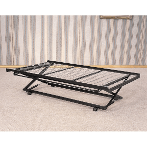 Classic Twin Pop-Up Trundle Bed (300 Lbs Weight Capacity)