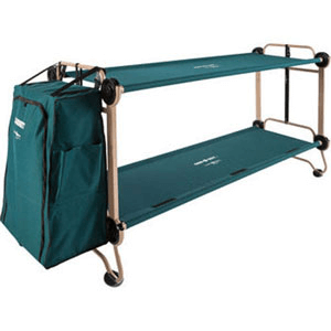 Cam-O-Bunk Foldaway Adult Bunk Bed with Leg Extensions and Cabinet (500 Lbs Weight Capacity Per Level)