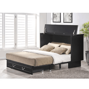 Queen Size Cottage In Distress Black Finish 553-20-1(FUFS)