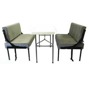 Set Of Two Wall Mounted Folding Dinette Sleeper (NHFS)(Mattress Included)(Weight Capacity 400 Lbs Per Bed)