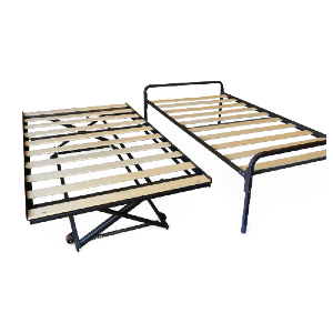 Hi-Riser Complete Bed (Twin) w/Pop-Up Trundle (Wooden Slats)