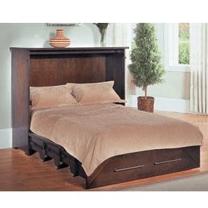Metropolitan ZzZ-Chest Espresso Cabinet Bed (FC)