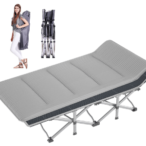 Lilypelle Folding Cot Portable Adult Oxford Bed Camping Hiking