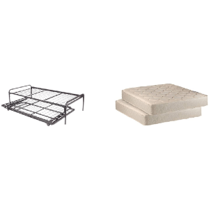 Frame And Pop up 33 In Wide Trundle with Great Firm Mattresses Included Package Deal