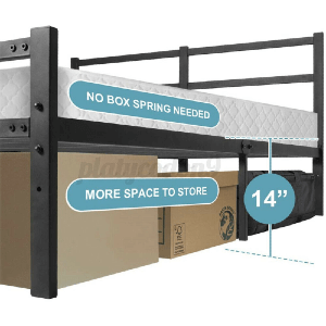 Metal Platform With Headboard Bed All Sizes (1500 Lbs Weight Capacity)